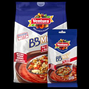 Mix di Noci sgusciate, Peperoni rossi disidratati, Mandorle tostate con sale e pepe e Semi di Girasole