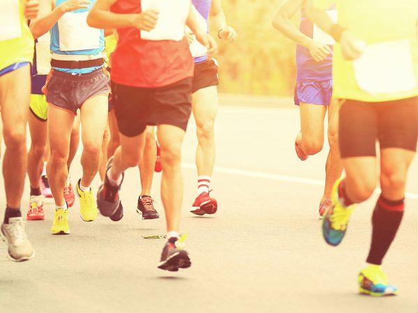 runner piedi scarpe da corsa
