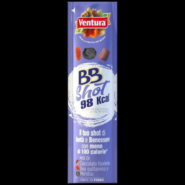 BBShot: Mix cioccolato fondente, uva sultanina, mirtillo