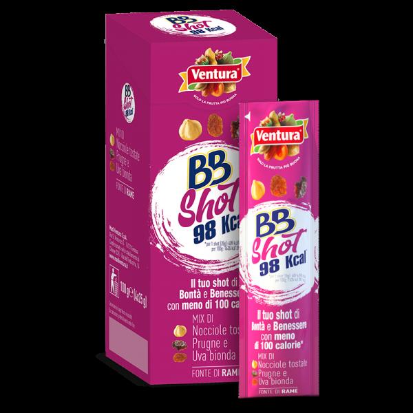 BBShot x 4: Mix di nocciole tostate, prugne, uva bionda