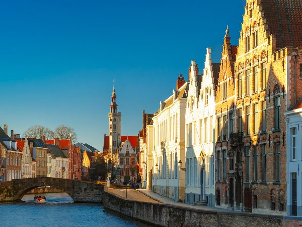 panorama bruges canale