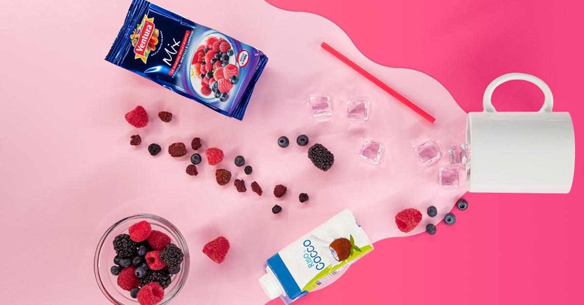Per una merenda american style, il milkshake ai frutti rossi