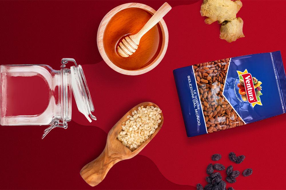 ingredienti crema spalmabile frutta secca zenzero