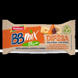 Difesa BBMix Bio Barretta Uvetta, Anacardi, Albicocca, Banana