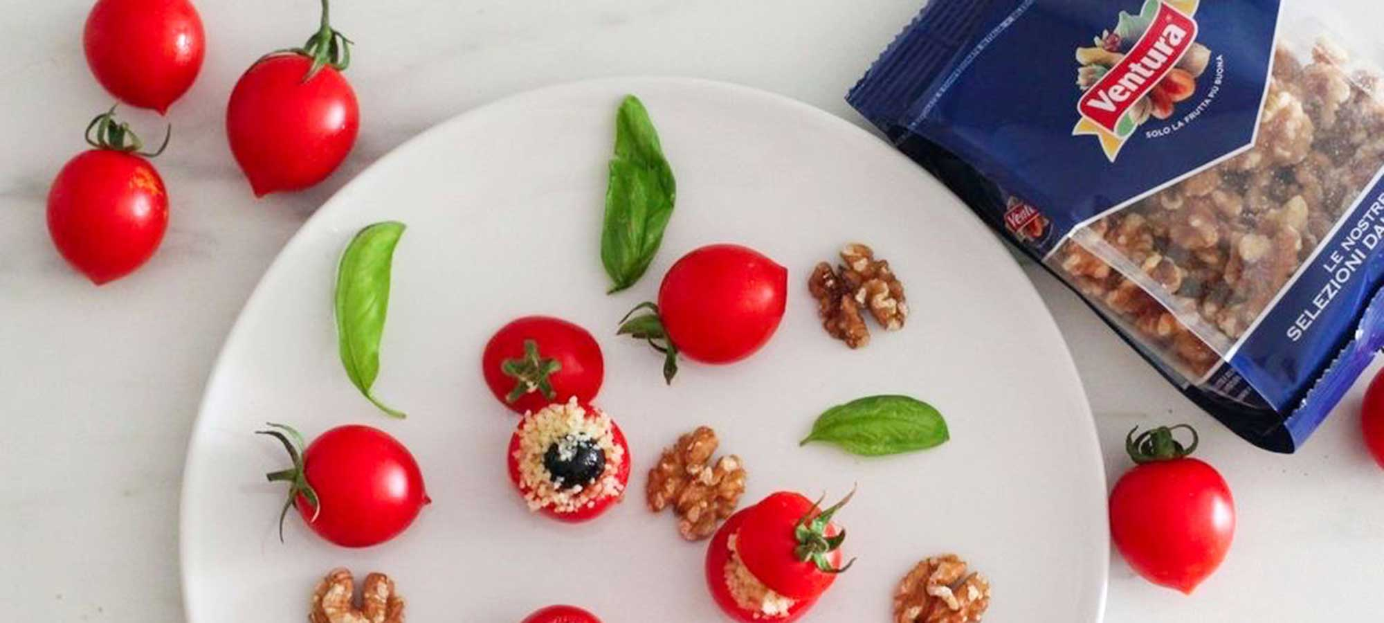 Pomodori ripieni di cous cous e noci Ventura